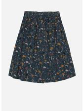Soft Gallery dixie skirt, deep teal, aop fungi