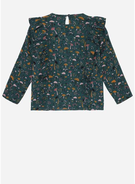 Soft Gallery bette shirt, deep tall, aop fungi