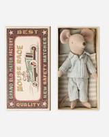 Maileg big brother pyjama mouse in box