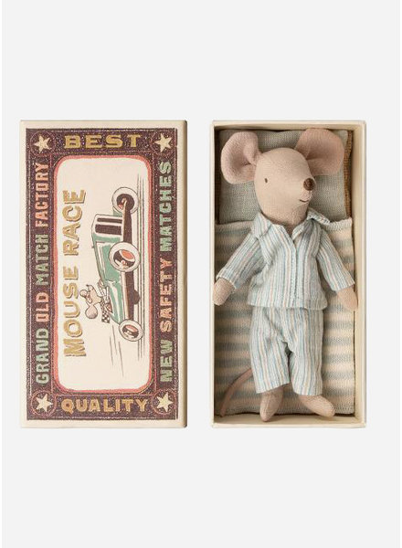 Maileg big brother pyjama mouse in box
