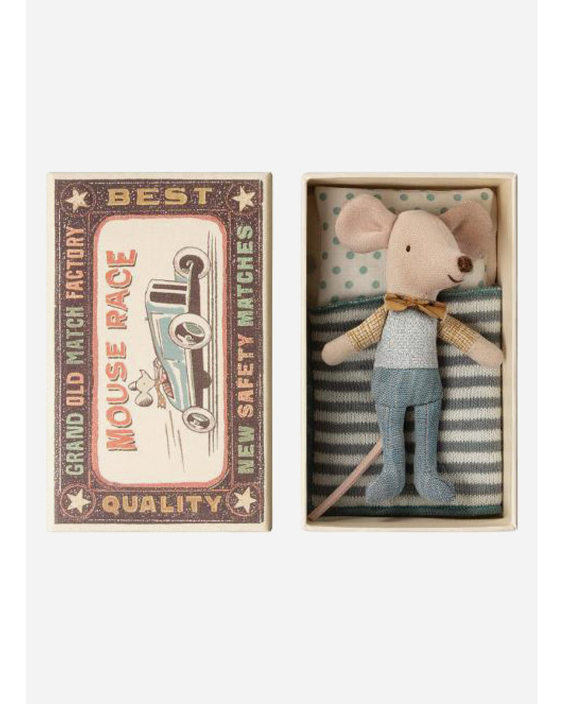 Maileg little brother mouse in box strik