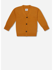 Repose 7. knitted v neck cardigan - warm yellow