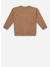 Repose 6. knitted rib cardigan - mixed warm wheat