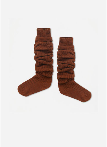 Repose 43. woolly high socks - hazel brown