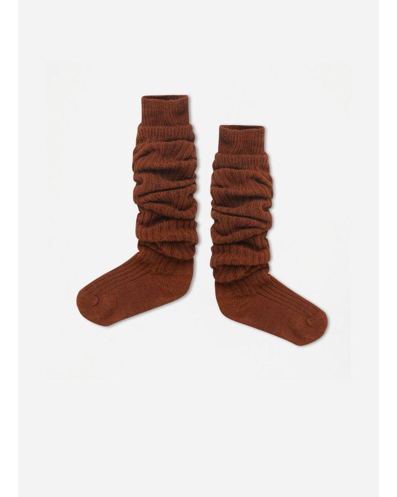 Repose 43. woolly high socks - hazel brown