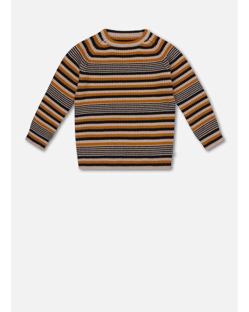 Repose 4. knitted raglan sweater - retro stripe