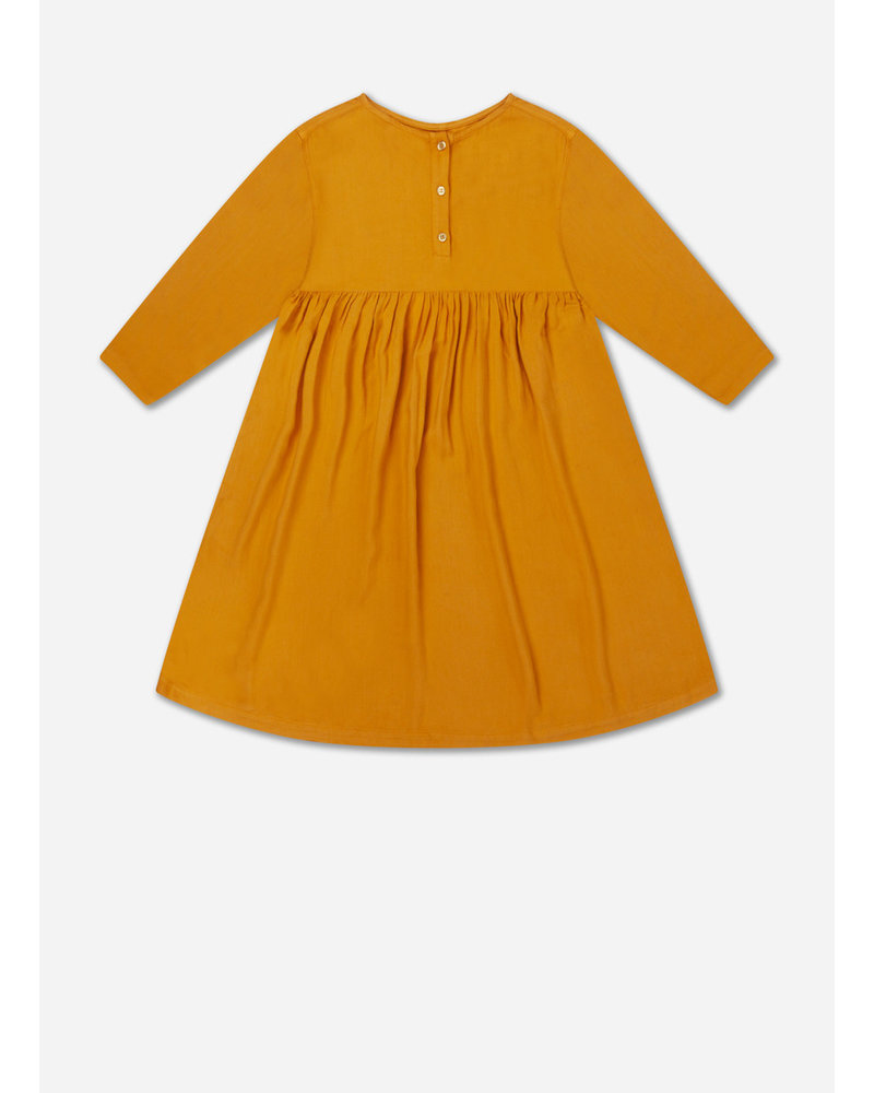 Repose 32. midi dress - warm ochre