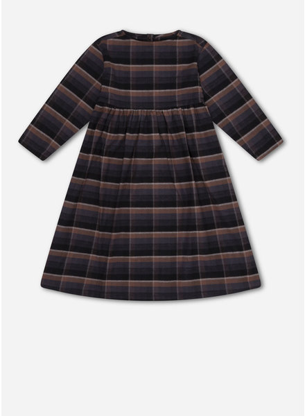 Repose 32. midi dress - inky brown check