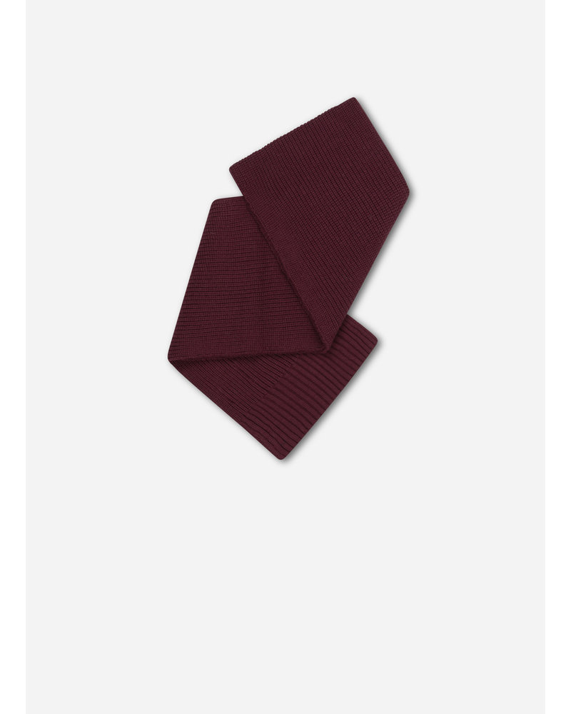 Repose 39. knitted scarf small - rosewood red