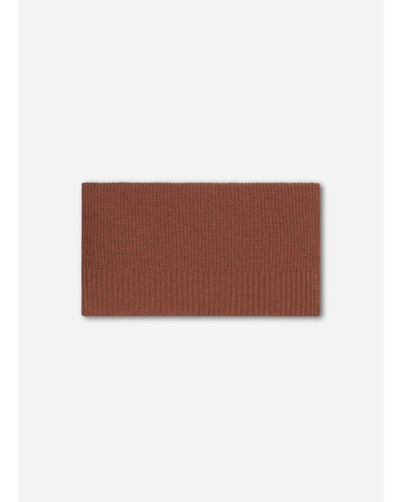 Repose 39. knitted scarf small - stone brown