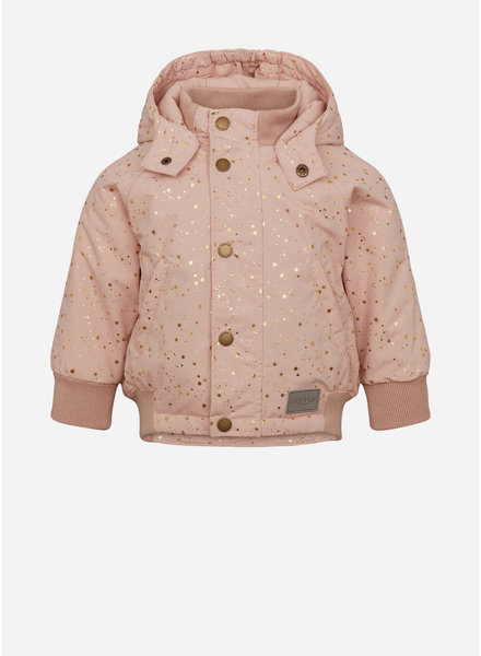 MarMar Copenhagen ode technical outerwear baby dusty rose starflake