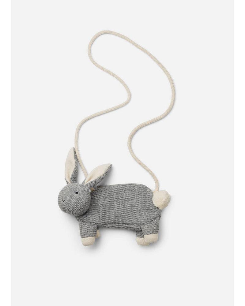Liewood momo bag rabbit grey melange