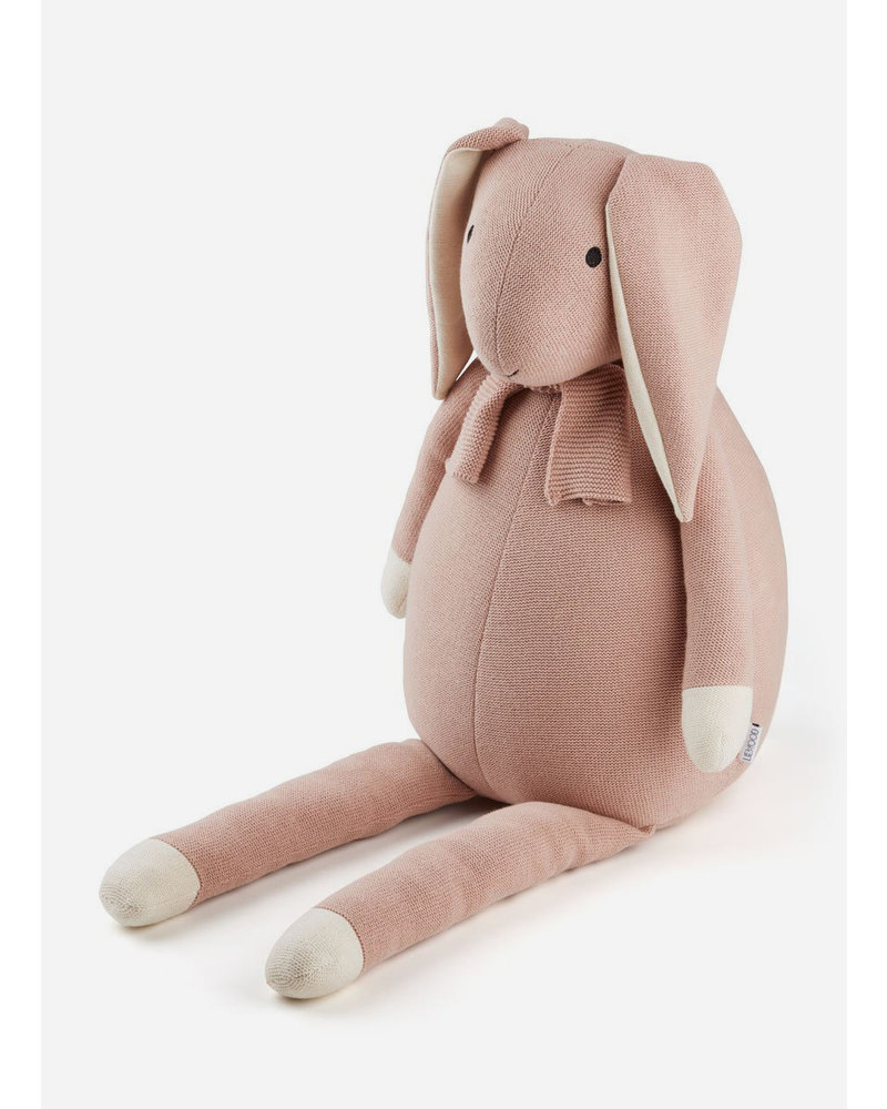 Liewood kathlin knit teddy rabbit rose