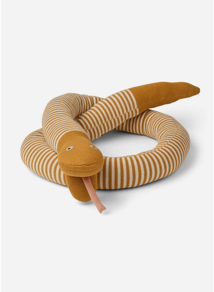 Liewood fillippa knitted snake stripe mustard/beige beauty