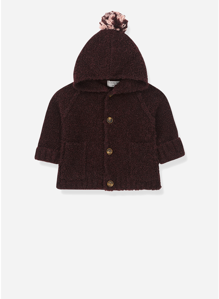 1+ In The Family zermatt hood jacket burgundy