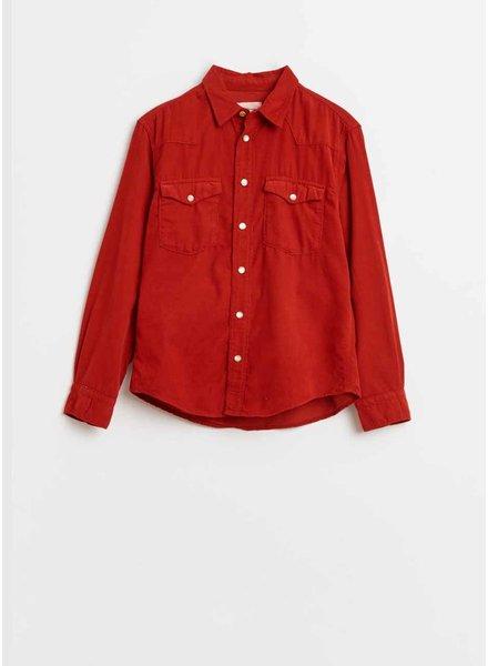 Bellerose peio92 shirt - ecarlate