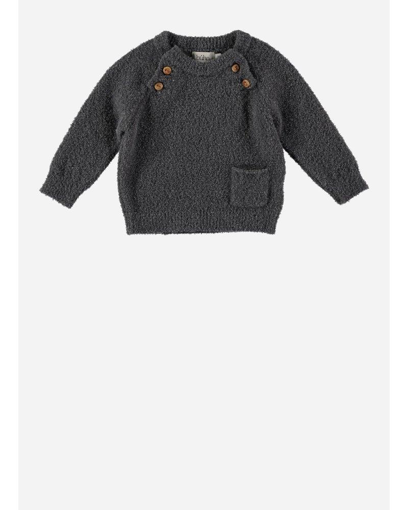 Buho coco baby pocket jumper grey