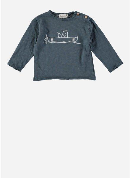 Buho linus canoe t-shirt ocean blue