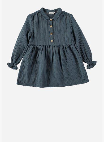 Buho milena cotton gazeuze dress ocean blue