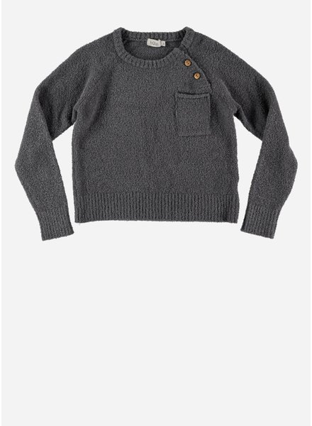 Buho julio knit pocket jumper grey