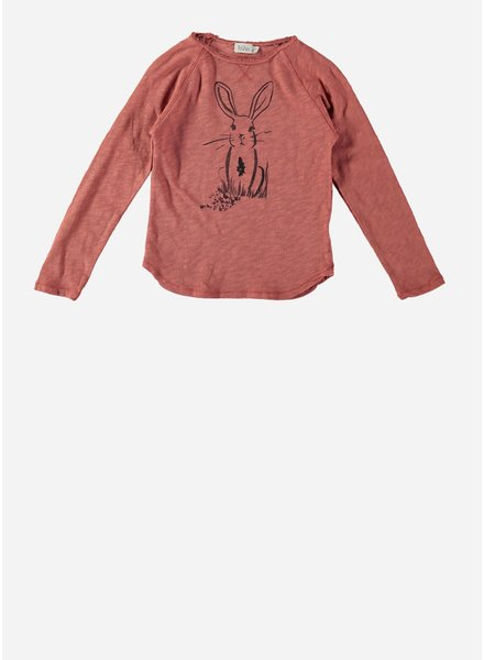Buho lou rabbit t-shirt rose dawn