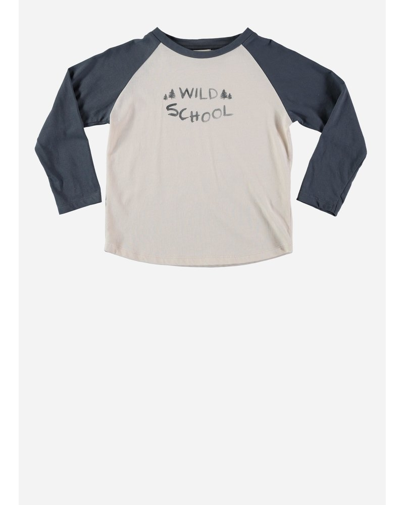 Buho louis wild school t-shirt ocean blue