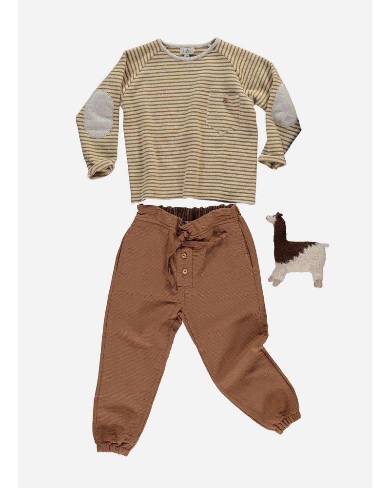 Buho bruno stripes pocket sweater ecru