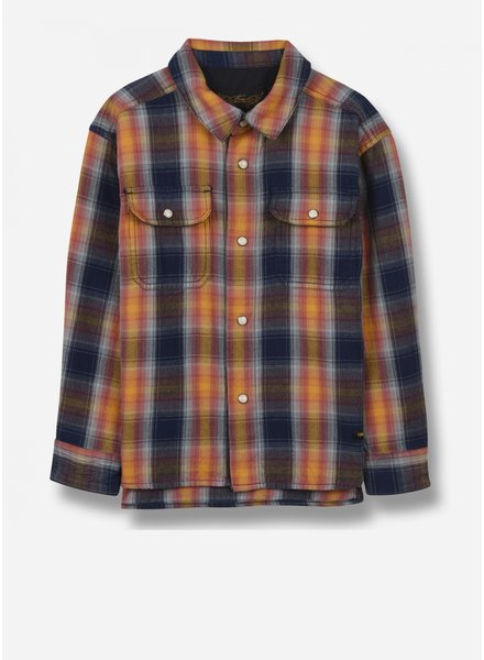 Finger in the nose new dusk - woven ls shirt - multicolor checker