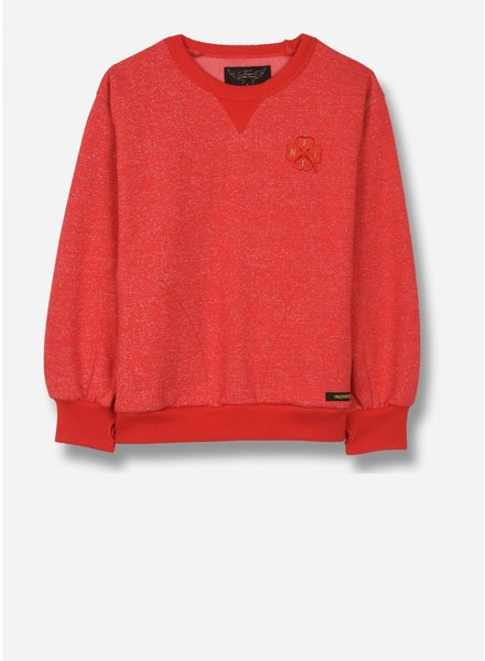 Finger in the nose hiroko - crew neck sweatshirt - heather red clover