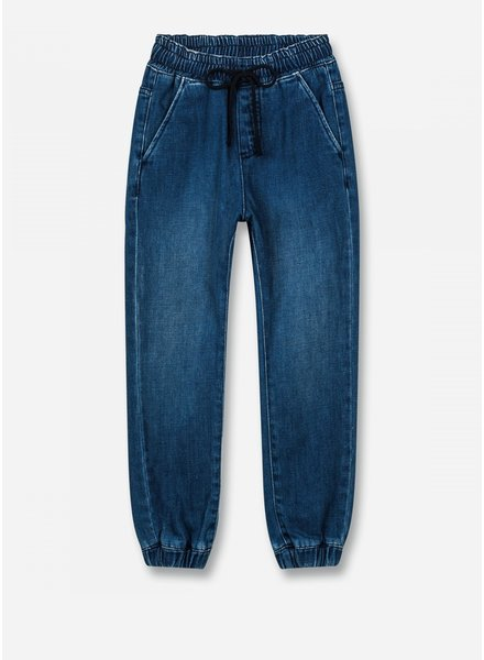 Finger in the nose longbeach - jogging pants - blue denim