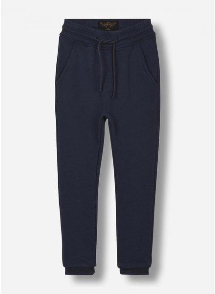 Finger in the nose sprint - fleece jogging pants - sailor blue