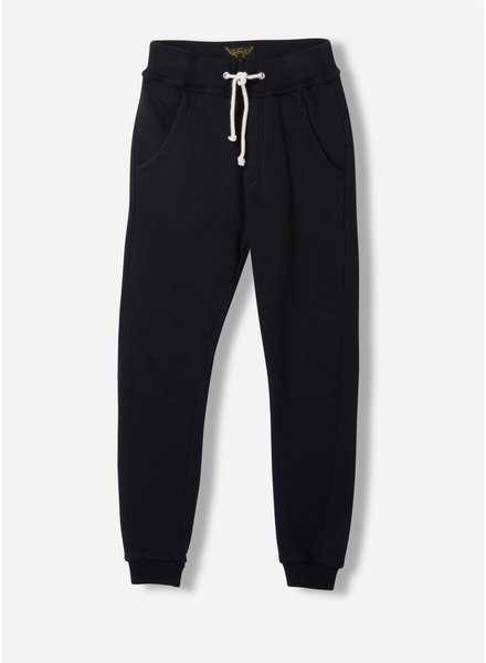 Finger in the nose sprint - fleece jogging pants - black