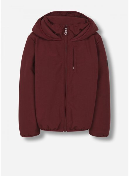 Finger in the nose stanley - unisex woven hooded jacket - burgundy