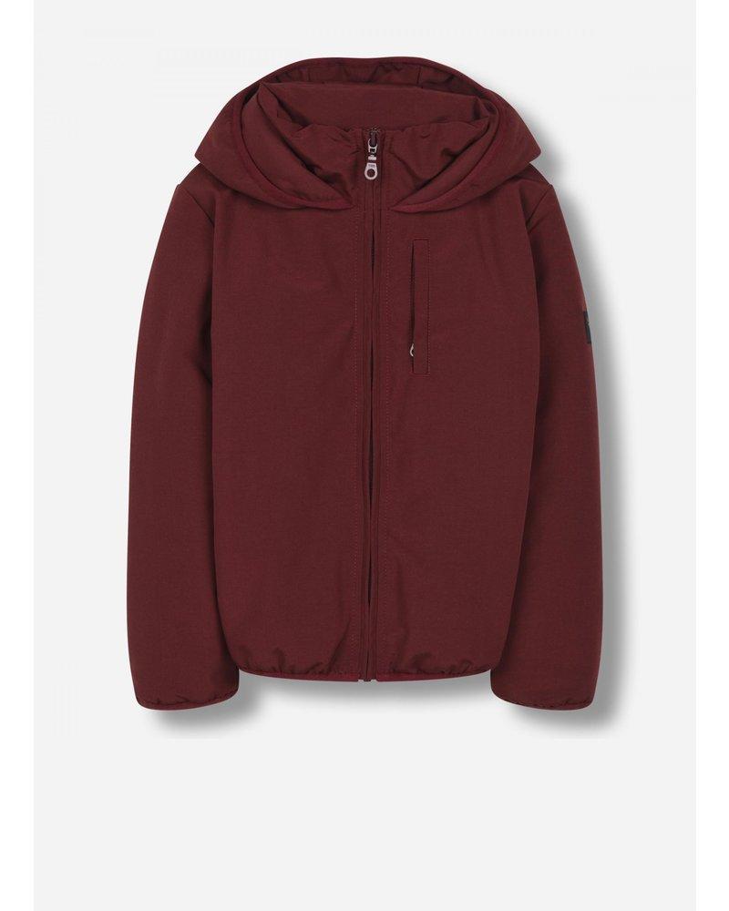 Finger in the nose stanley - unisex woven hooded jacket - burgundy