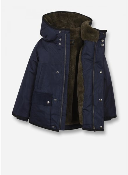 Finger in the nose nordfolk - woven multipockets parka - sailor blue
