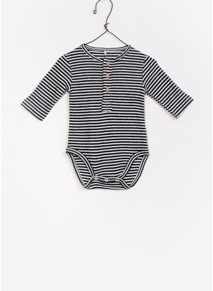 Play Up baby striped rib bodysuit - black