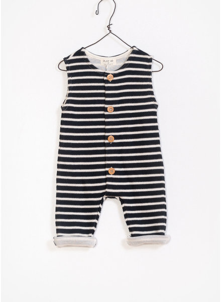 Play Up baby striped double face jumpsuit - black