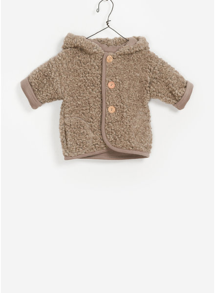Play Up baby plush hooded jacket - camel
