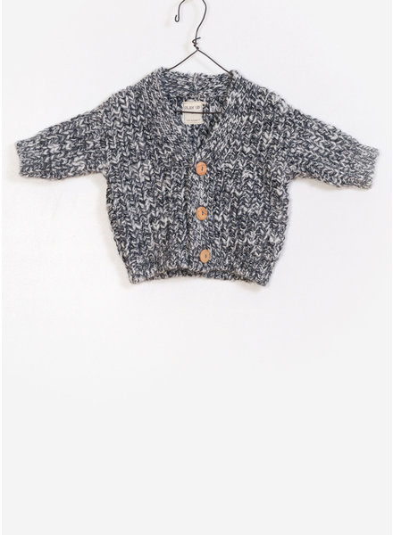 Play Up baby knitted jacket - antracite melange