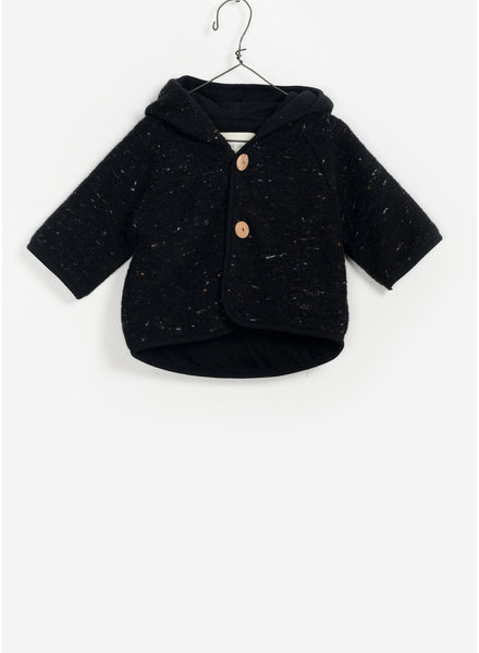 Play Up baby hooded knitted jacket -  black