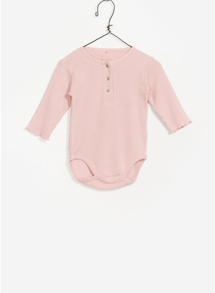 Play Up baby flame rib bodysuit - pink