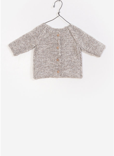 Play Up baby knitted jacket - creme melange