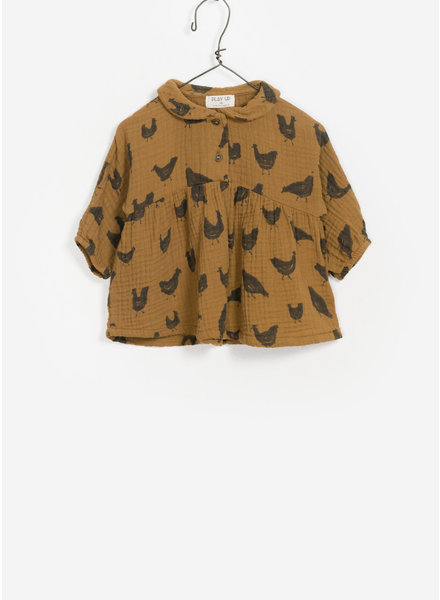 Play Up baby printed woven tunic - mustard