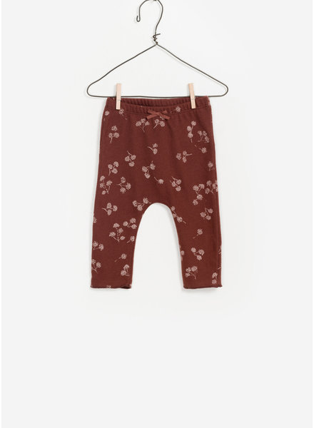 Play Up baby printed jersey legging - dark red