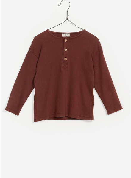 Play Up flame rib tshirt - dark red