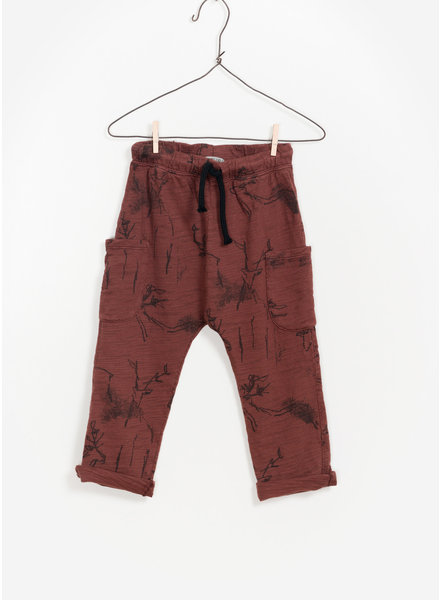 Play Up printed flame jersey trousers - dark red