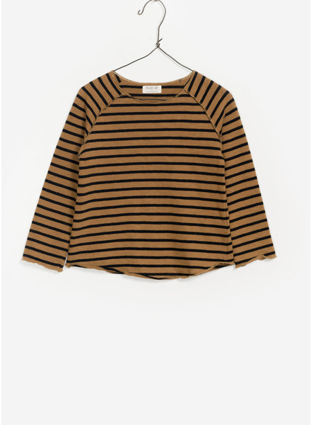 Play Up striped jersey tshirt - brown black
