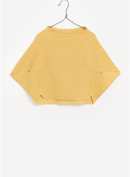 Play Up double face sweater poncho - yellow