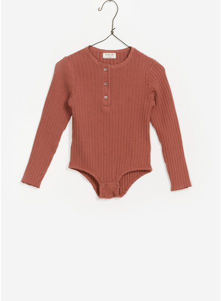 Play Up ribbed body suit - stone