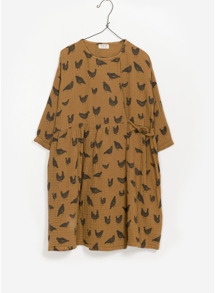 Play Up printed woven dress - mustard